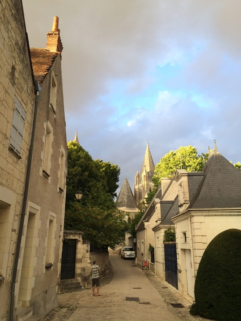 golden light on the streets of the cité royale
