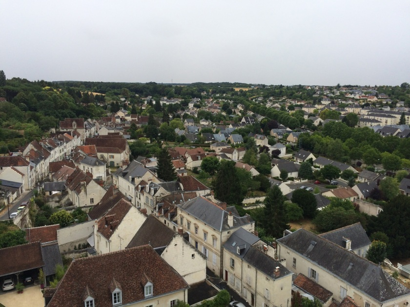 The views from the terrace are pretty spectacular, showing all the rooftops of Loches below.