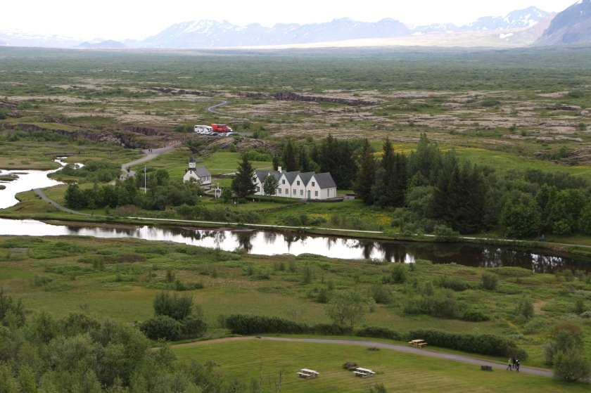 Thingvellir, site of the first icelandic parliament in 930.