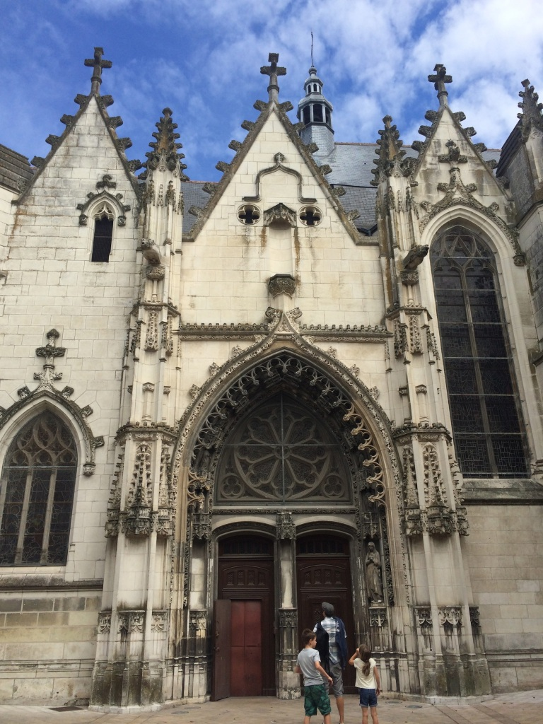 Just one of many beautiful churches in Tours. The kids liked the gargoyles!
