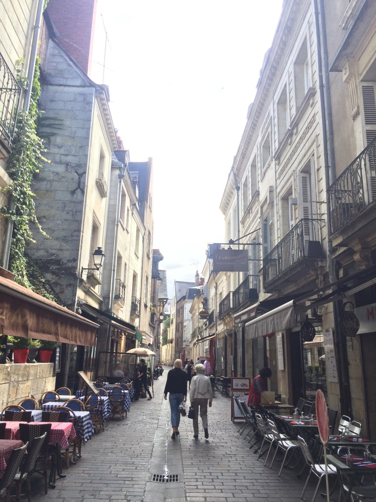 More pretty narrow streets lined with cafés.