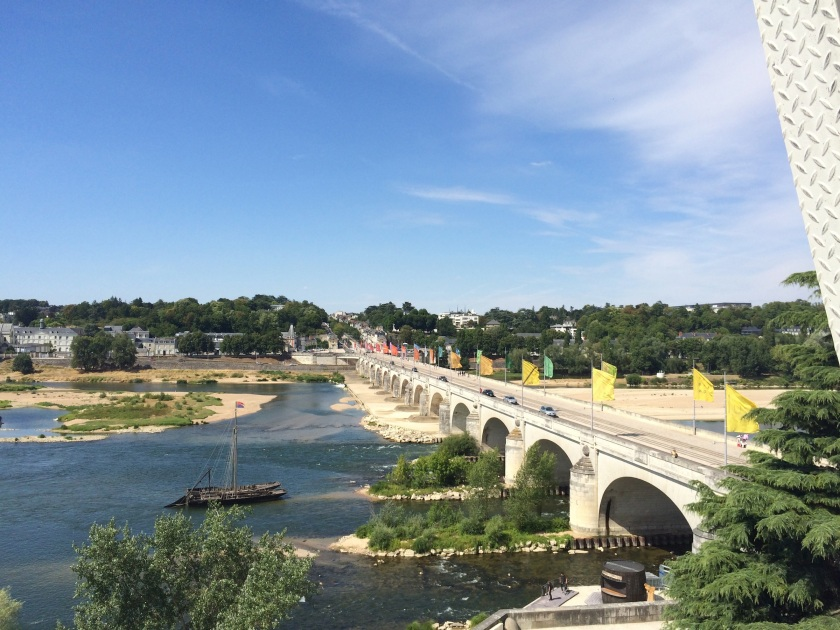 View of one of the bridges in Tours, also from the Grande Roue.