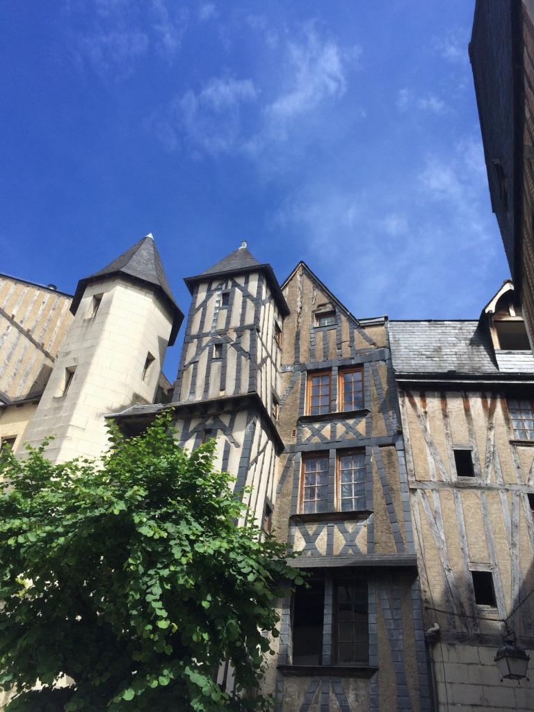 Ancient medieval buildings, Tours.