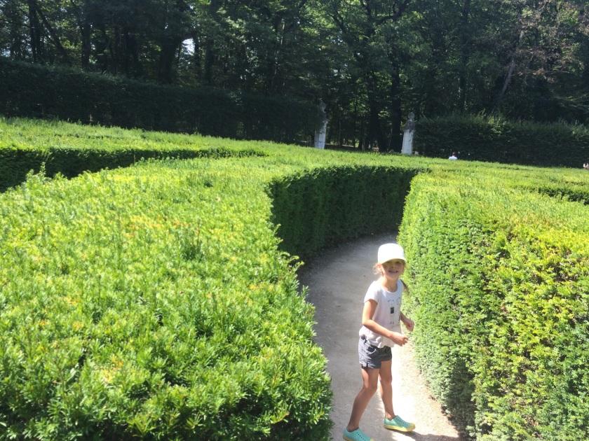 The Italian maze. Danica especially loved it!