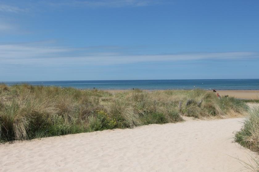 Beautiful Juno Beach, from behind the beach grass.