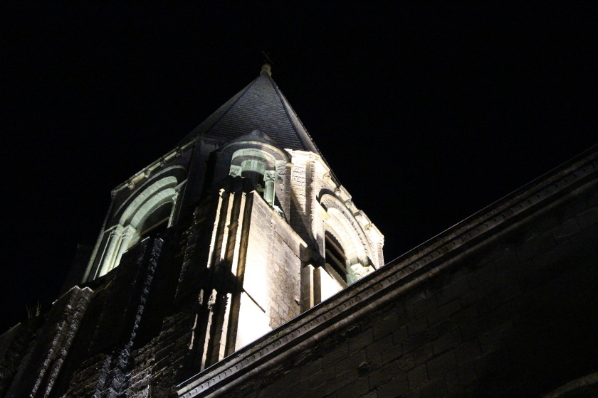 church tower night