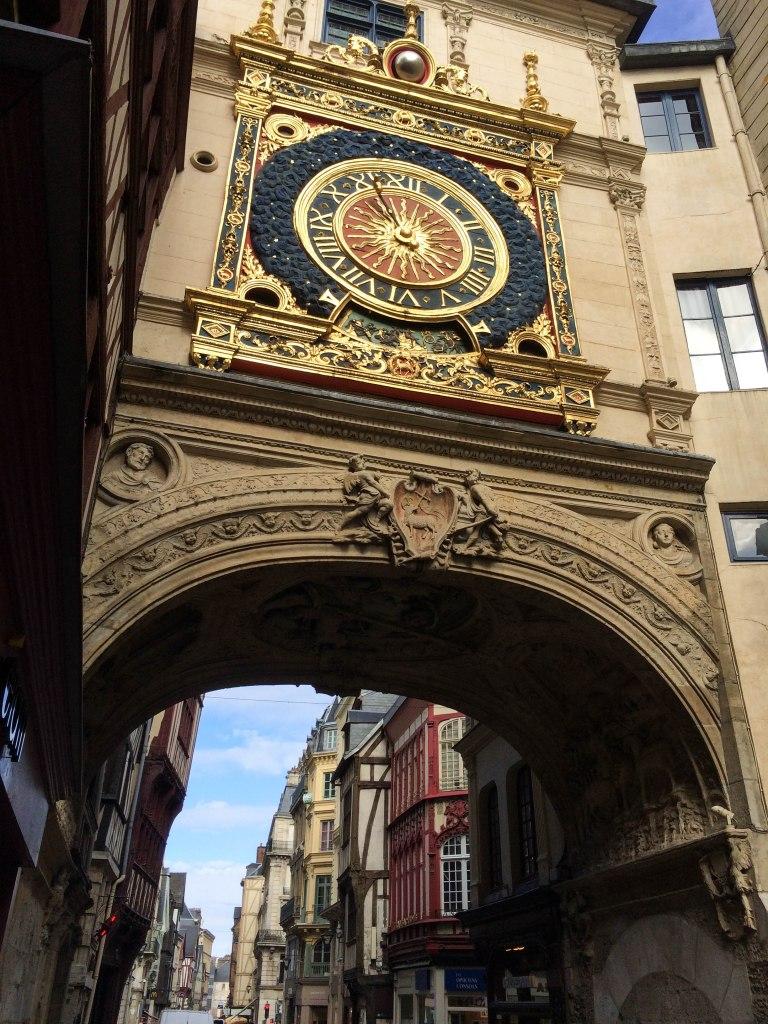 Le Gros-Horloge, a XIVth century astronomical clock in Rouen.