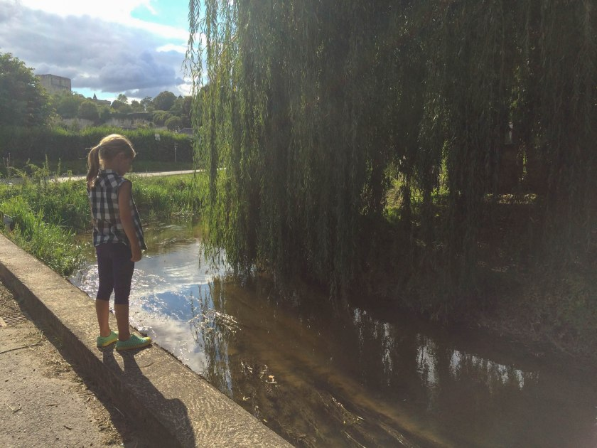 when Oli fell into the pond...