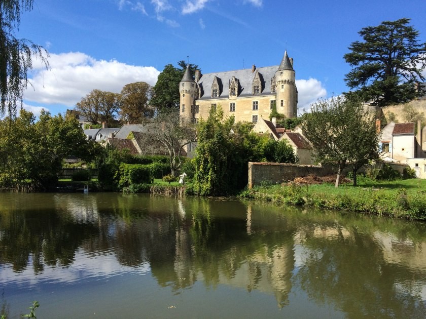 The Château viewed from the meandering riverside walk.