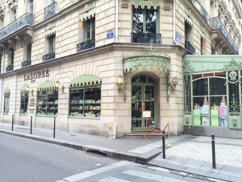 A Paris requisite, Ladurée! So beautiful inside, walls painted with gorgeous scenes and gold leaf everywhere.