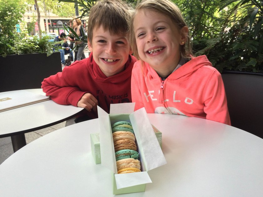 Why yes, I did make them pose with the Ladurée macarons before eating them. They lived up to the hype, delicious!