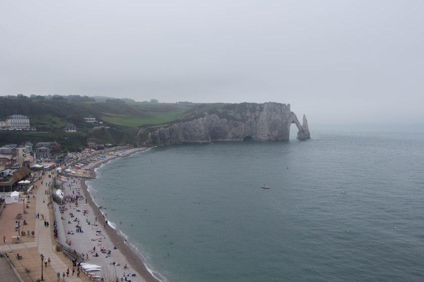 full beach + arch view