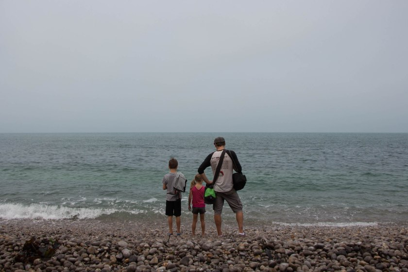 derek and kids looking out to sea