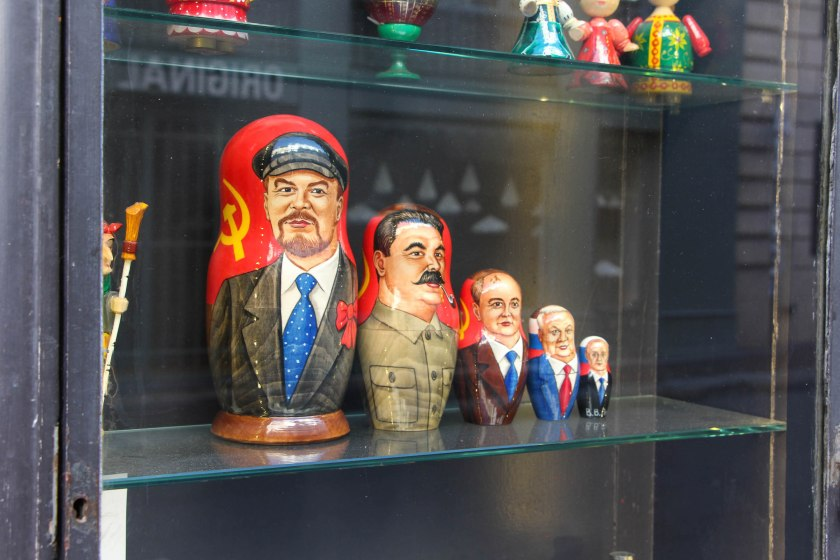 We came across this awesome shop window in St-Germain-des-Prés with all sorts of cool russian dolls and wooden figures. Derek loved these Russian Leaders Matryoshka Dolls! Too bad it was closed. Oh, Sundays!