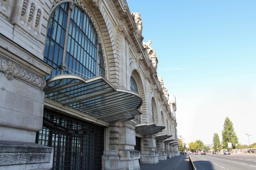 Details of the d'Orsay - love the art deco inspired glass awnings.