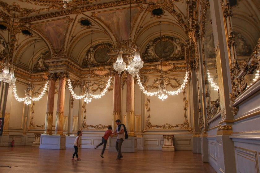 We happened upon this incredible ornate ballroom in the back of the Musée d'Orsay. It was basically empty, so we went in and danced around the room imagining the grand parties that must have been held here.