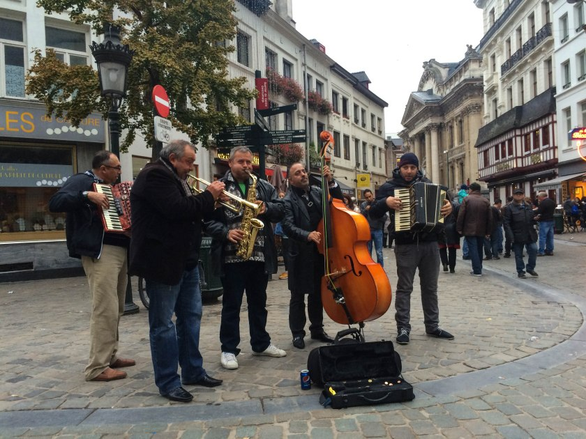 Great street music in Brussels. This is one of my favourite things about Europe!
