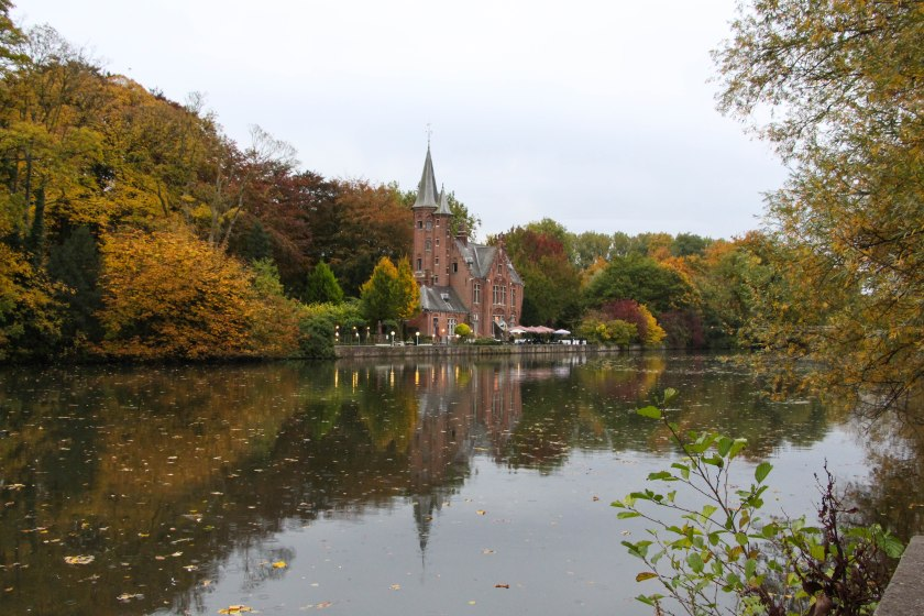 Gorgeous autumn colours on Minnewater Lake, aka the Lake of Love.