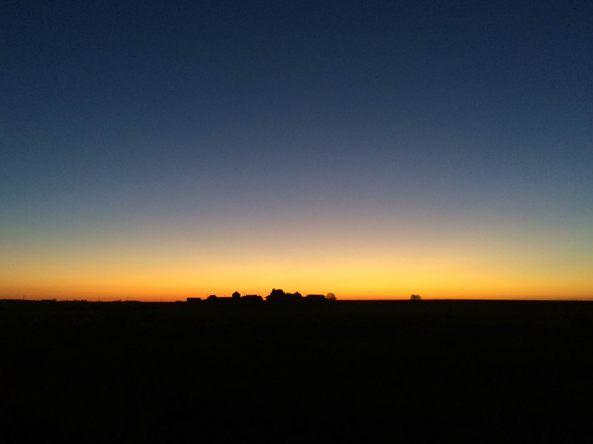 sunset on the way home from cheverny