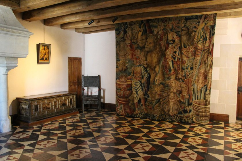 tiles and tapestries, langeais