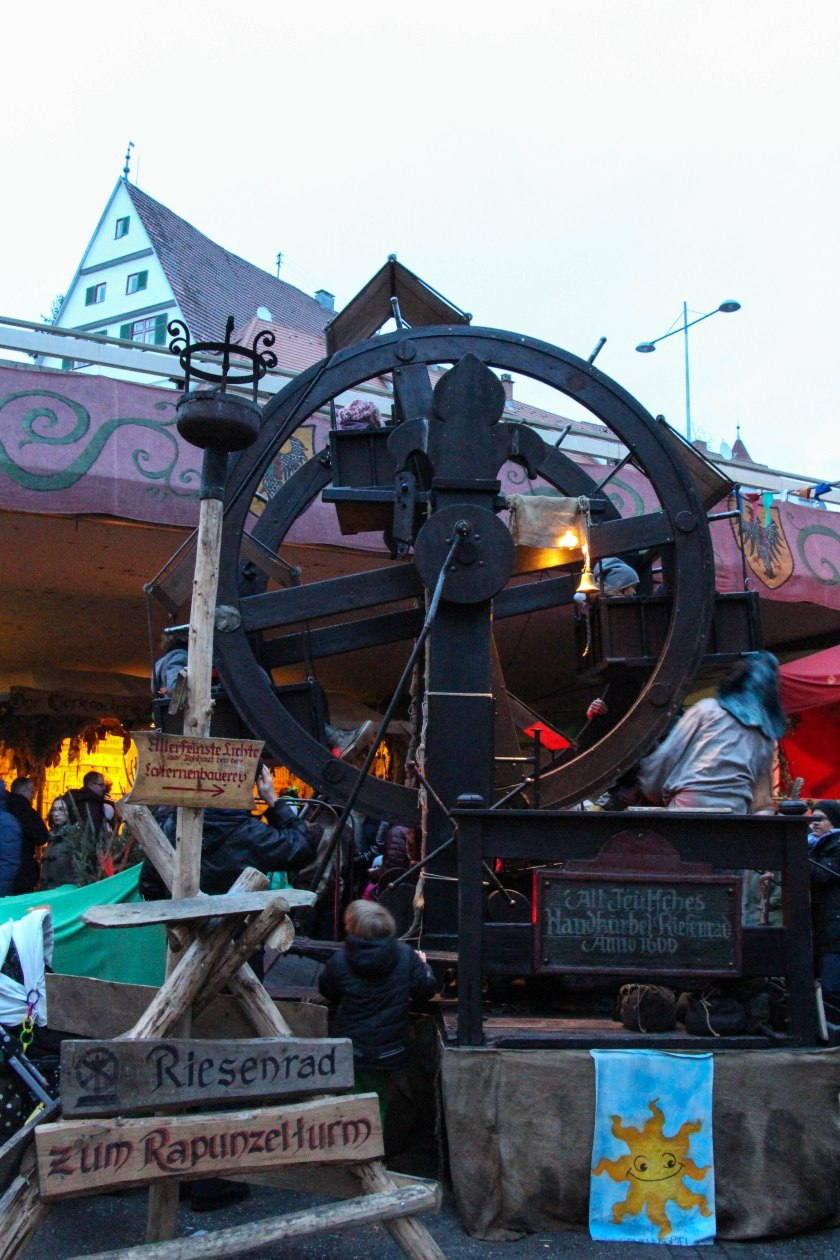 hand-cranked ferris wheel