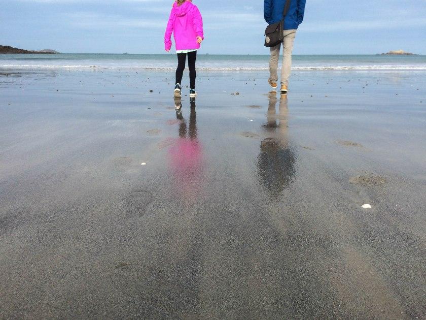 Dinard beach derek and dani