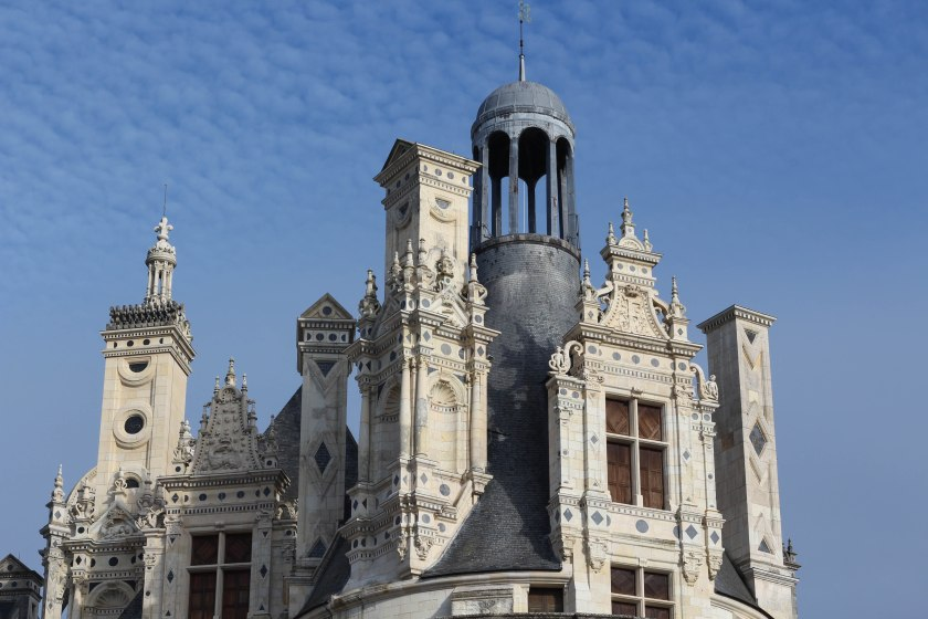 Tippy top of the bell tower, chambord.
