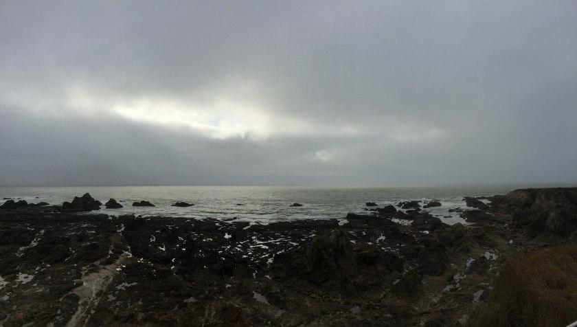 moody beach pano