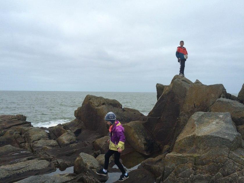 more kids on rocks