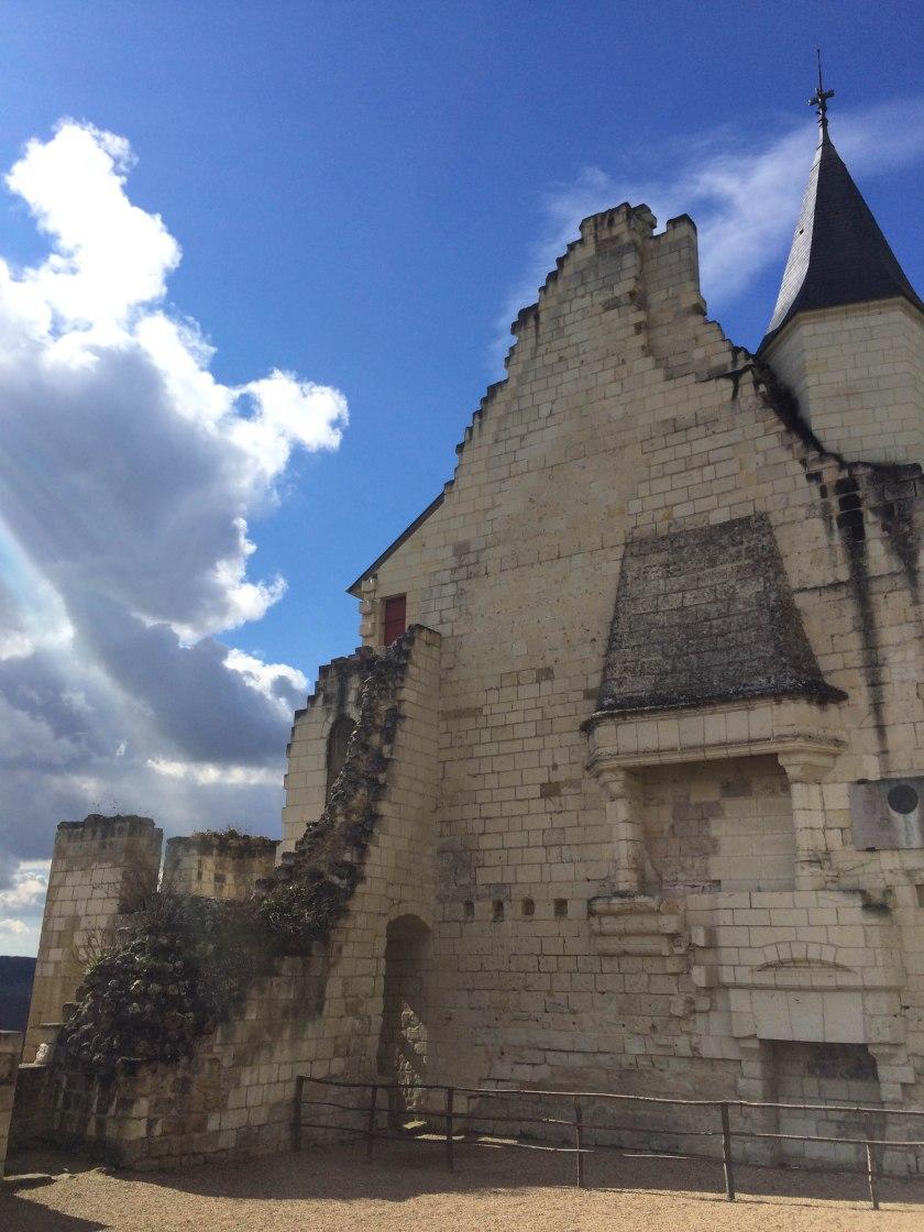 chinon chateau + ruins