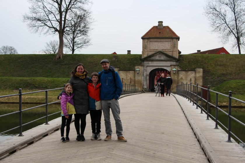 family pic entrance to Kastellet