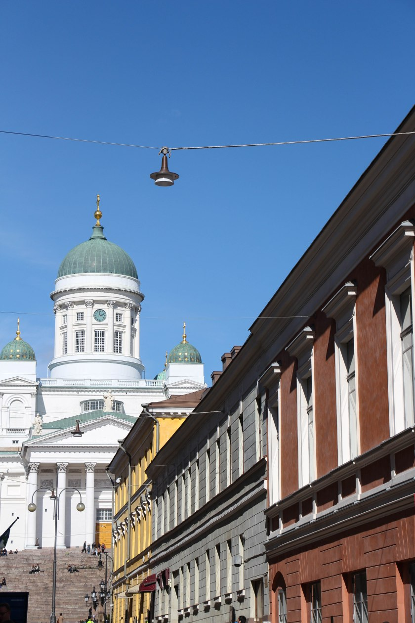 Helsinki cathedral down the street