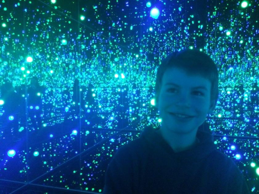 Gleaming Lights of the Souls, installation by Yayoi Kusama.