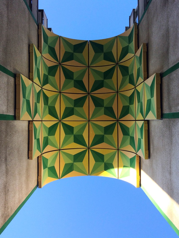 Amazing tiled archway