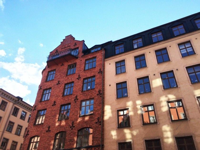 gamla brick building