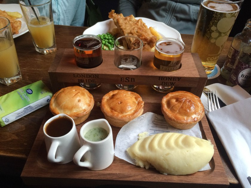 beer and pie tasting