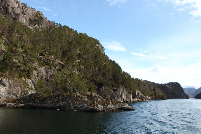 fjord rocks and trees