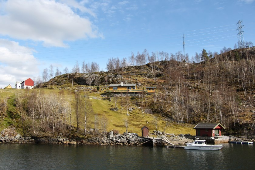 fjord yellow house