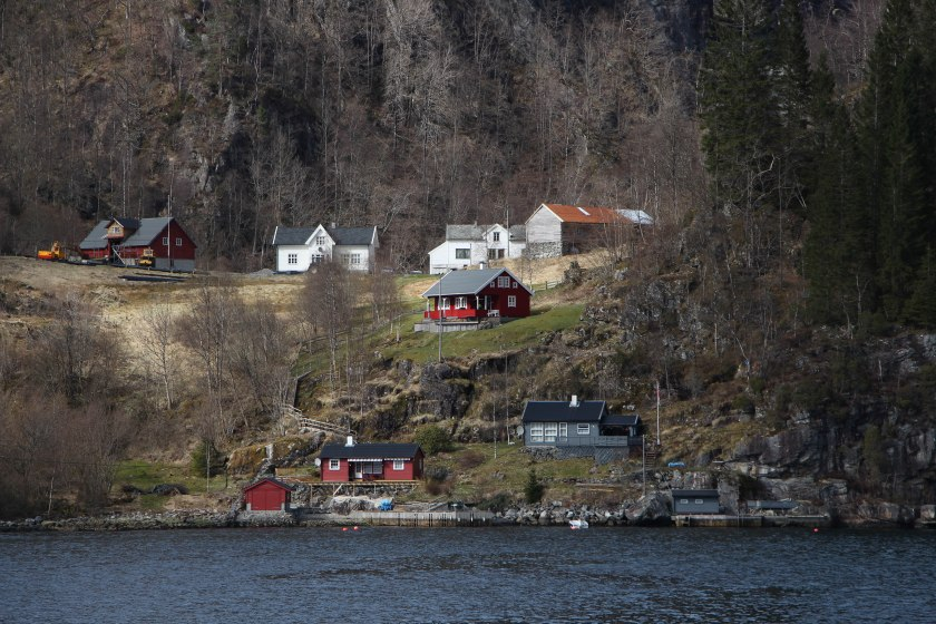 houses on hill fjord