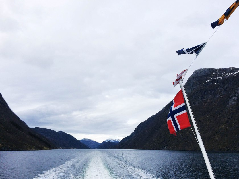 flags and fjord