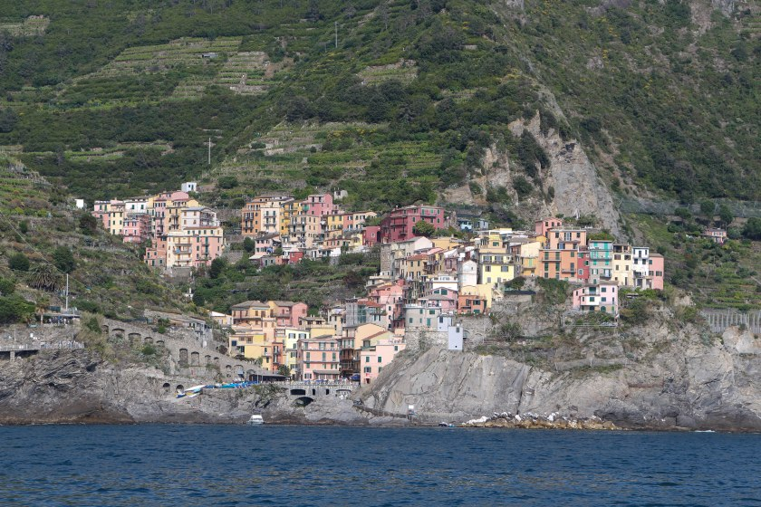 Manarola approach from water