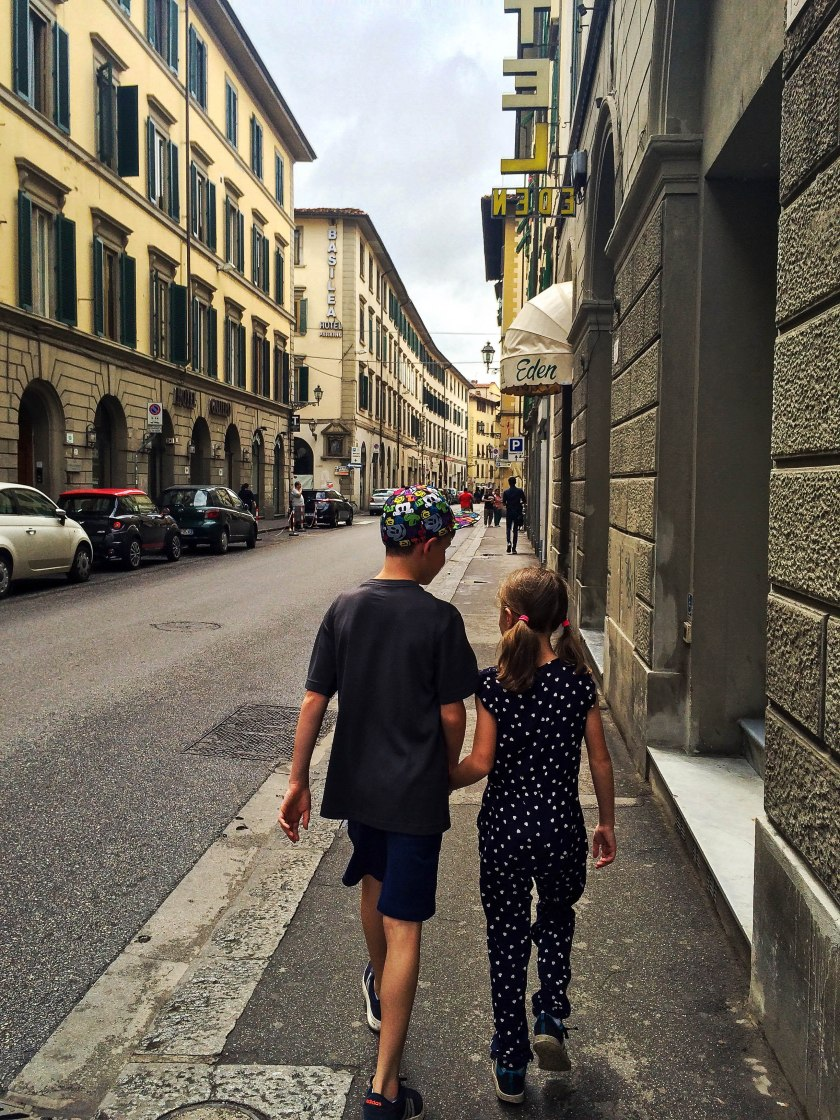 kids first walk in florence