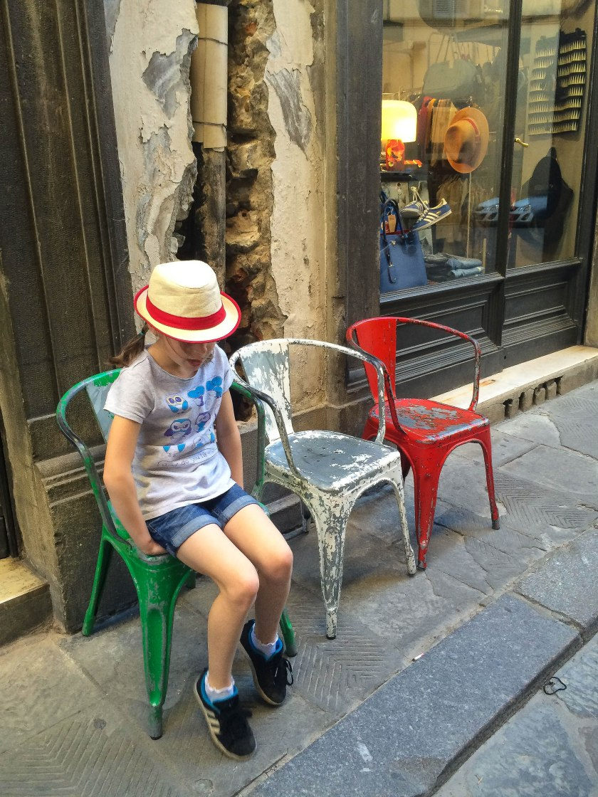 italian coloured tolix chairs!