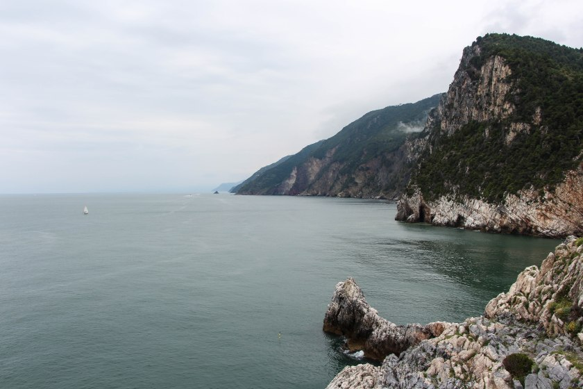 ligurian bluffs from byron's grotto
